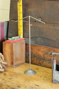 Antique Vintage Victorian T Bar Shirt Rack Stand Nickel Retail Counter Silver 7