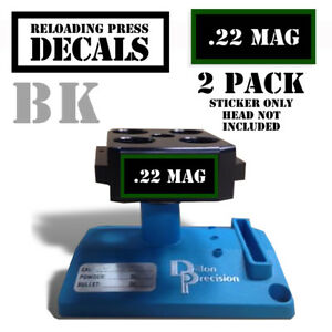 22 Mag Reloading Press Decals Ammo Labels 1.95