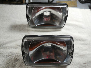 Cibie 35 airport Genuine Clear Driving Lenses pair Black Bezel New W covers