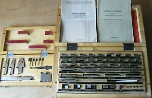 Precision Angle Gauge Block Set 33 Pcs And Accessories To Them