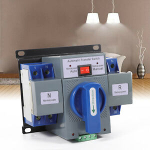 Dual Power Automatic Transfer Switch Cb Level Self Cast Changeover Switch 110v