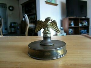 Antique Eagle Brass Cast Iron Paperweight Desk Top Victorian Paper Holder Ornate