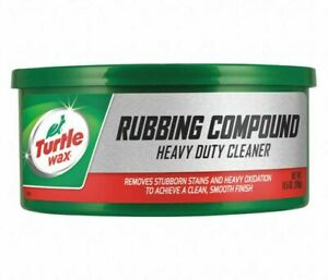 Heavy Duty Rubbing Compound 10 5 Oz Tub Truck Auto Turtle Wax Cleaner Scratches