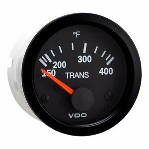 Vdo Vision Black 400 F Transmission Temperature Gauge Use With Vdo Sender 12
