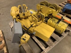 Yale 1 Ton Cable Hoist 460 Volt 3 Phase W Power Trolley