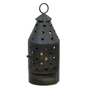 New Primitive Country Colonial Style Mini Revere Night Light Lantern Lamp Timer