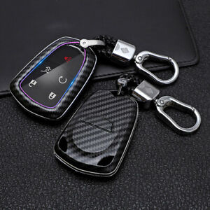 Key Fob Case Shell Holder Keychain Cover For Cadillac Ats Cts Cts V Xt5 Escalade