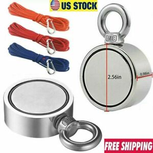 900lbs Strong Pulling Force Round Double Sided Neodymium Fishing Magnet Or Rope