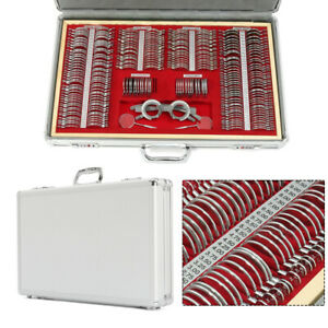 68 266 Pcs Optical Trial Lens Set Optometry Kit Metal Rim Alu Case Trial Frame