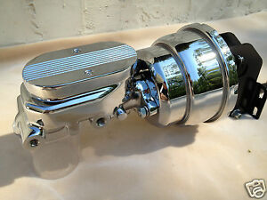 1965 70 Plymouth Barracuda 7 Dual Brake Booster Chrome Master Cylinder New