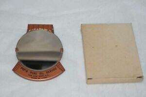 Vintage Clip On Sun Visor Mirror Metal Accessory Pops Pure Oil Service Box Guc
