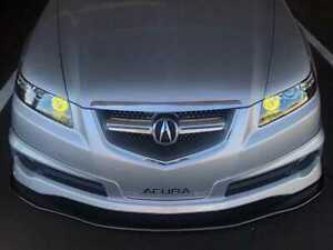 Acura Tl Front Splitter artwork Bodyshop Matte Black Aggressive Splitte