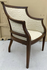 Vintage Antique Hickory Chair Co Company Tub Back Chair Mid Century