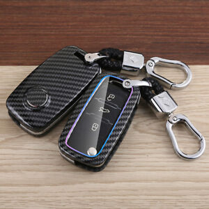 Key Fob Chain Ring Case Cover Holder For Vw Jetta Touran Skoda Octavia A5 Fabia