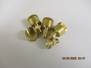 4 Hit Miss Model Gas Engine Brass Grease Cups 1 4 28 Mounting Thread New