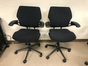 Humanscale Freedom Task Chair Smooth Black Fabric