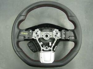 Subaru Wrx Leather Red Stitched Steering Wheel 2015
