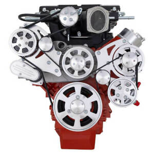 Cvf Chevy Ls Engine Magnuson Serpentine Kit W Alternator Ac Ps Polished
