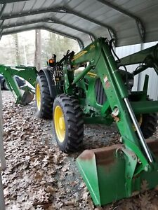 John Deere 5065m Tractor With Loader Forks Snowplow Backhoe Must See