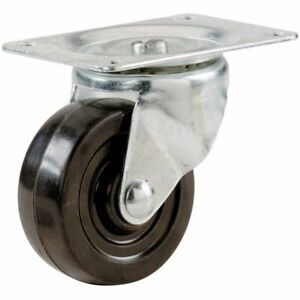 Lot Of 12 Ball Bearing 2 5 Swivel Caster Wheels Rubber Base With Top Plate