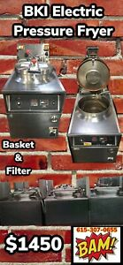 Bki Electric Pressure Fryer With Basket And Oil Filtration System 208v 3 Phase