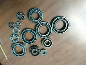 Lot 13 Vintage Ball Bearings Usa And Germany 1 Inch To 2 5 In