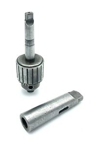Jacobs Chuck 34 0 1 2 Capacity 2 Morse Taper Shank With Morse 4 Adapter