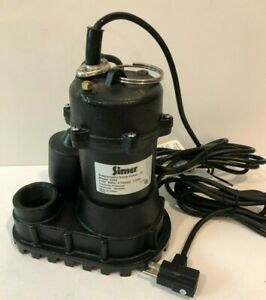 Simer 1 2 Hp Cast Iron Submersible Sump Pump Tether Switch 4200 Gph Free Ship