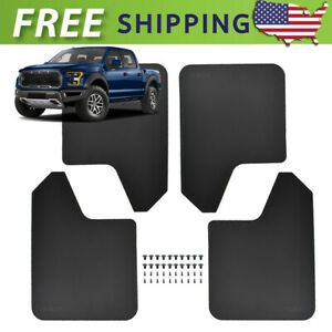 4x Wide Mud Flaps Mudflaps Mudguards Splash Guards For Ford F150 F 150 F250