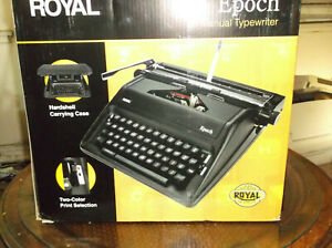 2020 New Royal Epcot Manual Portable Typewriter With Instruction Manual And Carr