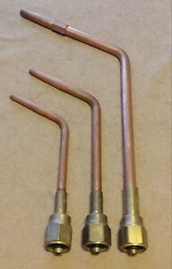 Victor Lot Of Standard Type w Acetylene Welding Tips All Very Nice W 6 Mfa