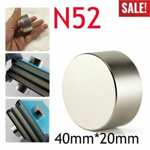 5pcs N52 Large Neodymium Rare Earth Magnet Big Super Strong Huge 40mm 20mm Usa