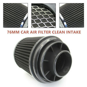 3inch 76mm Car Air Filter Clean Intake High Flow Short Ram cold Round Cone Part
