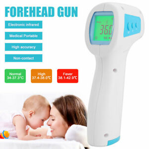 Non contact Infrared Thermometer Gun Lcd Digital Forehead Fever Baby adult Meter
