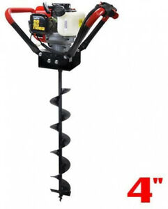 Xtremepowerus 1 person Post Hole Digger V type 55cc 2 Stroke Gas One Man Auger