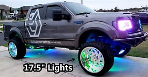 17 5 X4 Double Row Leds Dream Color Chasing Illuminated Wheel Rings Lights Set