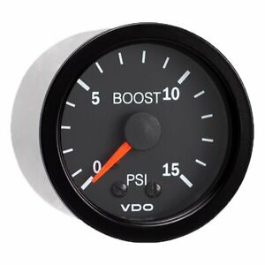 Vdo Vision Black 15 Psi Mechanical Boost Gauge 12v 150 101