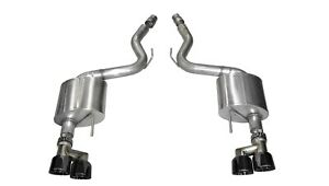 Corsa Performance 14334blk Sport Axle back Exhaust System Fits 15 18 Mustang