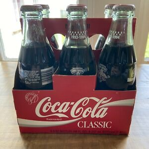 COCA COLA FLORIDA PANTHERS INAUGURAL YEAR 1993-1994 UNOPENED 8OZ BOTTLE