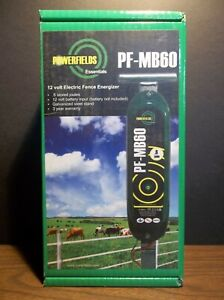 Powerfields Essentials Pf mb60 12 Volt Fence Charger N i b 6 Joules 30 Acres