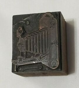 Vintage Eastman Kodak Camera Letterpress Printing Printer Block Copper