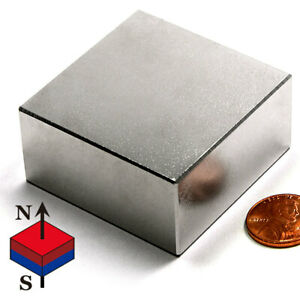 1 Pc Super Strong N52 Neodymium Magnet Block 2 X 2 X 1 Rare Earth Magnets