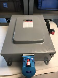 Square D H461 Safety Switch With Meltric Dsdc3 30amp 250vdc 33 3420p New