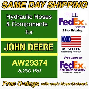 John Deere New Replacement Hydraulic Hose Aw29374 Upgrade 5 290 Psi