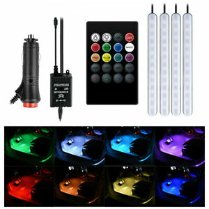 Led Light Ambient Rgb Car Interior Cigarette Lighter Atmosphere Remote Control