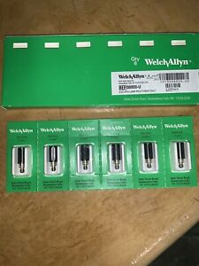 New Welch Allyn 08800 u 4 6v Hpx Replacement Lamp Set Of 6 For 78800