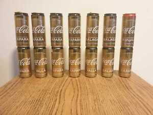 Coca Cola Israel 14 x empty cans  Eurovision limited edition Israel 2019