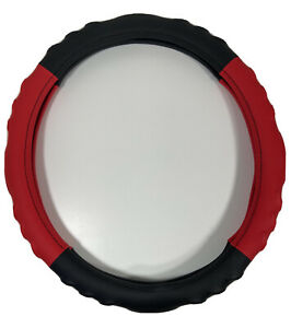Steering Wheel Cover Red Black Soft Silicon Skidproof Odorless Us Seller
