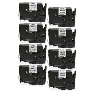 8pk For Label Maker Tape 12mm For Brother P touch Tz 231 Tze 231 Pt d210