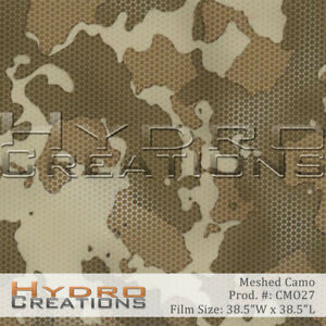 Hydrographic Film Hydro Dipping Water Transfer Film Meshed Camo 38 5 X 38 5